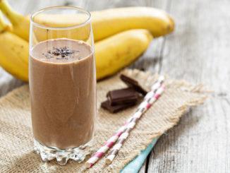 frullato proteico maca e banana